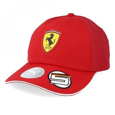 Keps Kids Scuderia Ferrari BB S.VETTEL Red Adjustable - Formula One - Röd Reglerbar