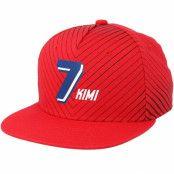 Keps Kimi Räikkönen Flat Brim Red Snapback - Ferrari - Röd Snapback