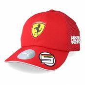 Keps Scuderia Ferrari BB S.VETTEL Red Adjustable - Formula One - Röd Reglerbar