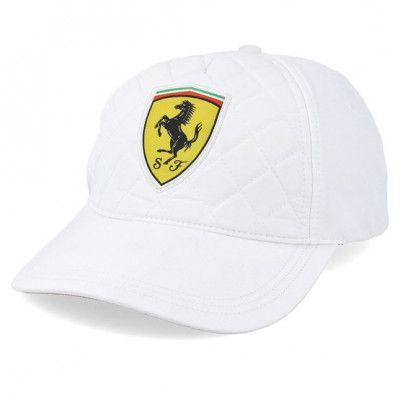 Keps Scuderia Ferrari Quilt White Adjustable - Formula One - Vit Reglerbar