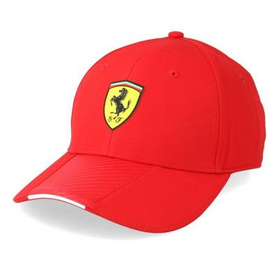 Keps Scuderia Ferrari Scudetto Red/Red Carbon Adjustable - Formula One - Röd Reglerbar