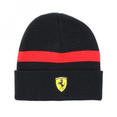 Mössa Knitted Black/White Cuff - Ferrari