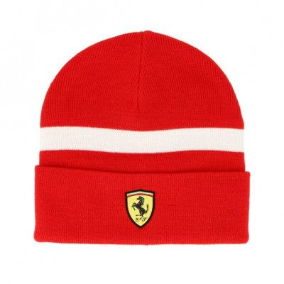 Mössa Knitted Red Cuff - Ferrari