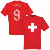 Schweiz T-shirt Röd XS
