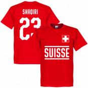 Schweiz T-shirt Shaqiri 23 Team Röd XS