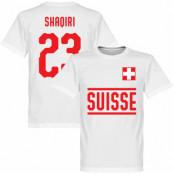 Schweiz T-shirt Shaqiri 23 Team Vit XS