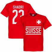 Schweiz T-shirt Shaqiri Team Röd XS