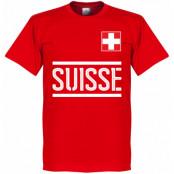 Schweiz T-shirt Team Röd XS