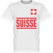Schweiz T-shirt Team Vit XS