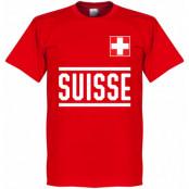 Schweiz T-shirt Wordmark Röd XS