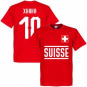 Schweiz T-shirt Xhaka 10 Team Röd XS