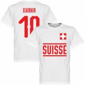 Schweiz T-shirt Xhaka 10 Team Vit XS