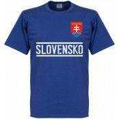 Slovakien T-shirt Team Blå L
