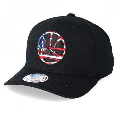 Keps Golden State Warriors USA Logo 110 Black Adjustable - Mitchell & Ness - Svart Reglerbar