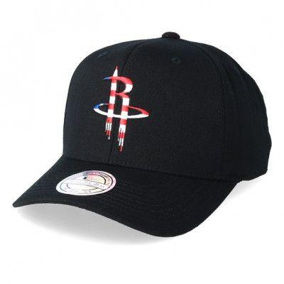 Keps Houston Rockets USA Logo 110 Black Adjustable - Mitchell & Ness - Svart Reglerbar