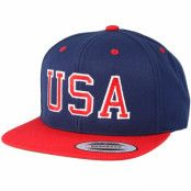 Keps USA Navy/Red Snapback - Iconic - Blå Snapback