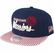 Keps Golden State Warriors USA Navy Snapback - Mitchell & Ness - Blå Snapback