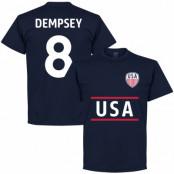 USA T-shirt Dempsey 8 Mörkblå S