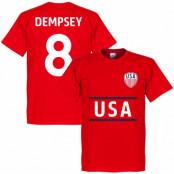 USA T-shirt Dempsey 8 Röd XS