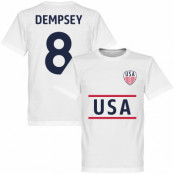 USA T-shirt Dempsey 8 Vit XS