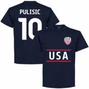 USA T-shirt Pulisic 10 Mörkblå S