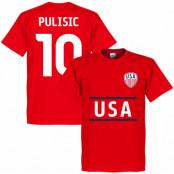 USA T-shirt Pulisic 10 Röd XS