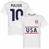 USA T-shirt Pulisic 10 Vit XS