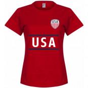 USA T-shirt Team Dam Röd S