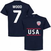 USA T-shirt Wood 7 Mörkblå S