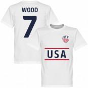 USA T-shirt Wood 7 Vit XS