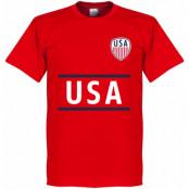 USA T-shirt Wordmark Röd XS
