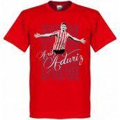 Athletic Bilbao T-shirt Legend Aduriz Legend Röd L