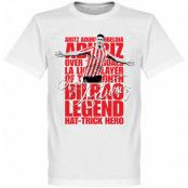 Athletic Bilbao T-shirt Legend Aduriz Legend Vit XS