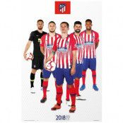 Atletico Madrid Affisch Players 65