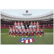 Atletico Madrid Affisch Squad 66
