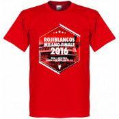 Atletico Madrid T-shirt 2016 Rojiblancos Milano Finale Röd XS