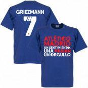 Atletico Madrid T-shirt Atletico Motto Griezmann Antoine Griezmann Blå S
