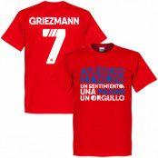 Atletico Madrid T-shirt Atletico Motto Griezmann Antoine Griezmann Röd XS
