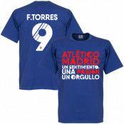 Atletico Madrid T-shirt Atletico Motto Torres Fernando Torres Blå S