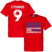 Atletico Madrid T-shirt Atletico Motto Torres Fernando Torres Röd XS