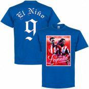 Atletico Madrid T-shirt Legend Torres El Nino 9 Atletico Legend Fernando Torres Blå S