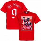Atletico Madrid T-shirt Legend Torres El Nino 9 Atletico Legend Fernando Torres Röd XS