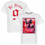 Atletico Madrid T-shirt Legend Torres El Nino 9 Atletico Legend Fernando Torres Vit XS