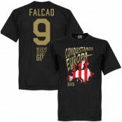 Atletico Madrid T-shirt Winners 2012 Atletico European Winners  Falcao 9 Radamel Falcao Svart XS