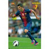Barcelona Affisch David Villa 86/37