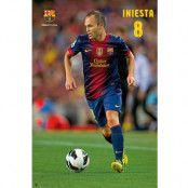 Barcelona Affisch Iniesta 22