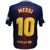 Barcelona Messi Signerad Tröja