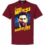 Barcelona T-shirt Messi Portrait Barn Lionel Messi Röd XS