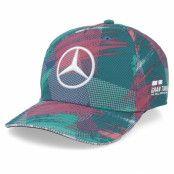 Keps Kids Mercedes AMG Petronas Barcelona Multi Teal Adjustable - Formula One - Multi Barnkeps