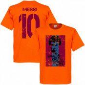 Barcelona T-shirt Messi 10 Flag Lionel Messi Orange XS